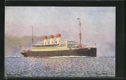 Künstler-AK Passagierschiff Cap Polonio In Voller Fahrt - Piroscafi