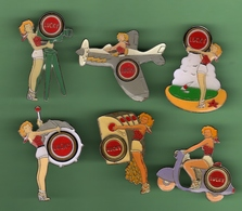 LUCKY STRIKE *** Cigarettes PIN-UPS *** Lot De 6 Pin's Differents *** 1033 - Pin-ups