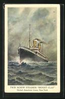 Künstler-AK Passagierschiff Mount Clay Auf Hoher See, United American Lines - Piroscafi