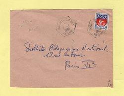 Andouille - Mayenne - CP N°1 - 2-3-1966 - Lettre De St Germain Le Guillaume - Correspondant Postaux - Marcophilie (Lettres)
