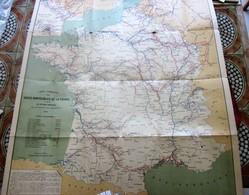 1911 CARTE ITINÉRAIRE VOIES NAVIGABLES DE FRANCE D'APRÈS GUIDE OFFICIEL NAVIGATION INTÉRIEURE éditeurs Berger Levrault - Cartes Marines