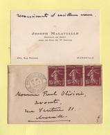 Type Semeuse - Carte De Visite - Marseille - 5-1-1940 - 1921-1960: Moderne