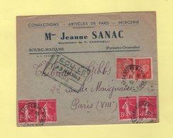 Bourg Madame - Pyrenees Orientales - 1943 - Marcofilia (sobres)