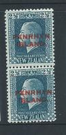 Penrhyn Island 1917 KGV Overprints 2 & 1/2d Mixed Perforation Pair Fine MLH - Penrhyn