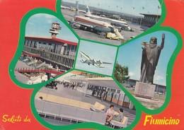 AEROPORTO-AEROPORT-AIRPORT-FLUGHAFEN-AERODROM-FIUMICINO-ROMA-CARTOLINA VERA FOTOGRAFIA VIAGGIATA IL 1-3-1974 - Aerodromi