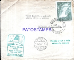 116685 ARGENTINA BUENOS AIRES COVER AVIATION SWISSAIR VUELO INAUGURAL YEAR 1957 NO POSTCARD - Argentinien