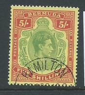 Bermuda 1938 - 53 KGVI 5 Shilling Perf 14 FU - Bermuda