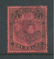 Bermuda 1938 - 53 KGVI 1 Pound FU , Variety Flaw On E Of Bermuda , 1939 Cds - Bermuda