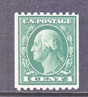 U.S  441  Perf. 10  FLAT PRESS  *    Single Line Wmk. 190   1914 Issue - Unused Stamps