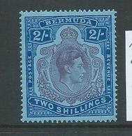 Bermuda 1938 - 53 KGVI 2 Shilling MLH Variety Gash On Chin - Bermuda