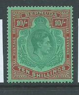 Bermuda 1938 - 53 KGVI 10 Shilling Perf. 14 MLH - Bermuda