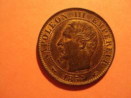 5 CENTIMES NAPOLEON III  ANNEE 1854 BB A ETAT SUP + A VENDRE 20 EUR AU LIEU DE 40 EUR. - Francia