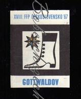 K9-80 CZECHOSLOVAKIA 1967 Symbol City Gottwaldov / Zlin  -  FFP Filmovy Festival Pracujicich - Workers Film Festival WFF - Matchbox Labels