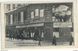 CPA Politique Paris Rare établissement Où Fut Assassiné Jean Jaurès Translation Des Cendres Au Panthéon 1924 - Events