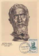 Carte  Maximum  1er  Jour   FRANCE   MICHEL- ANGE   1957 - Maximum Cards