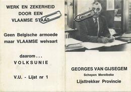 Merelbeke : Georges Van Gijsegem : Schepen : Kalender 1982       :  15 X 10.5 Cm : - Merelbeke