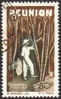 Réunion Obl. N° 267 - Détail De La Série émise En 1947 - 80cts Brun Et Olive-foncé - Oblitérés