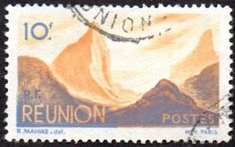 Réunion Obl. N° 277 - Détail De La Série émise En 1947 - 10f Bleu Et Orange - Réunion (1852-1975)