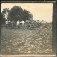 PHOTO ALLEMANDE CARNIN DANS LE NORD AVEC CANONS FORMAT 6.50 X 6.50 CM - 1914-18
