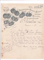 76-E.Bourdon..Manufacture De Cierges & Bougies...Gueures..(Seine-Maritime)...1915 - Textile & Vestimentaire