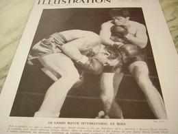 ANCIENNE PHOTO VEDETTE DE LA BOXE MARCEL CERDAN ET GEORGIE ABRAMS 1946 - Boxe