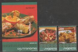 Albanie Europa 2005 N° 2773/ 2774 Et BF 121 ** Gastronomie - Europa-CEPT