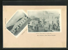 Passepartout-CPA St. Vicent, Government House, Central Praca, Market & Town Hall - Cap Vert