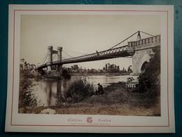 Environs De VICHY - Pont Suspendu De Ris à Mons - Photographie Ancienne Albuminée De Claudius Couton - Photos