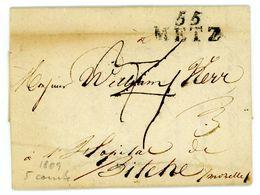 """""""55 METZ"""" 1809 Portobrief Mit Inhalt - Marcophilie (Lettres)"""