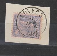 COB 48 Oblitération Centrale ANVERS - 1884-1891 Léopold II