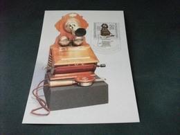 MAXIMUM TELEFONO ANTICO FERNSPRECHAPPARATE IM WANDEL DER ZEITEN DDR WANDAPPARAT OB 03 1903 - Non Classificati