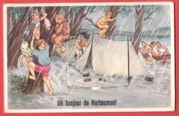 CP HERBEUMONT : Un Bonjour  De Herbeumont Tente, Inondation  Multivue (8 Vues) - Herbeumont