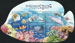 2019 HONG KONG UNDERWATER WORLD MS OF 6V FISH - Unused Stamps