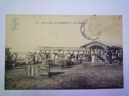 2019 - 1954  Souvenir De  DJIBOUTI  :  Le Marché  1921   - Gibuti