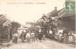MYENNES (58) Environs De COSNE - Les Batteries En 1914 (Beau Plan De Battage , Trépigneuse) - Autres Communes