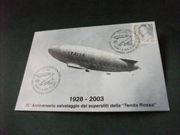 DIRIGIBILE ITALIA 75° ANN. SALVATAGGIO SUPERSTITI DELLA TENDA ROSSA - Dirigibili