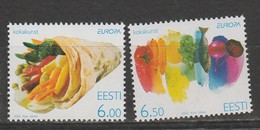 Estonie Europa 2005 N° 489/ 490 ** Gastronomie - Europa-CEPT