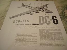 ANCIENNE PUBLICITE   AVION DOUGLAS 1947 - Advertisements