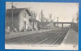 93 ++ BOBIGNY - GARE - STATION DE LA GRANDE CEINTURE - MILITAIRES - 1923 - Bobigny