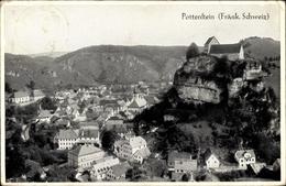 Cp Pottenstein In Oberfranken, Totalansicht Vom Ort, Vogelschau, Burgberg - Deutschland