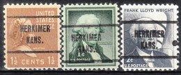 USA Precancel Vorausentwertung Preo, Locals Kansas, Herkimer 713, 3 Diff. - Vereinigte Staaten