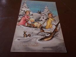 B728  Buon Natale  Viaggiata Pieghina Angolo - Non Classificati