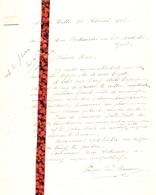 Brief Lettre - Prosper Van Bruaene Lotenhulle - Naar Kadaster 1925  + Brief Met Antwoord - Non Classés