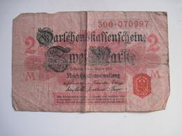 3 BILLETS  ALLEMAGNE 2 MARK 12 Aout 1914 & 1 M 1914 - [ 2] 1871-1918 : German Empire