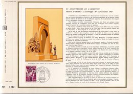 DOCUMENT FDC 1968 CINQUANTENAIRE ARMISTICE FRONT D'ORIENT - 1960-1969