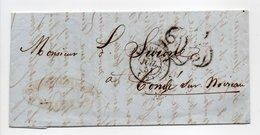 - Lettre BORDEAUX Pour Condé-sur-Noireau (Calvados) 21.7.1851 - Taxe Tampons 25 Centimes - A ETUDIER - - Marcofilie (Brieven)