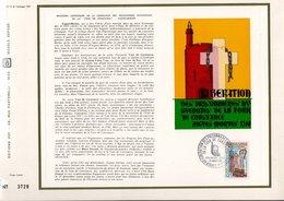 DOCUMENT FDC 1968 LIBERATION DES PRISONNIERES HUGUENOTES DE AIGUES-MORTES - FDC