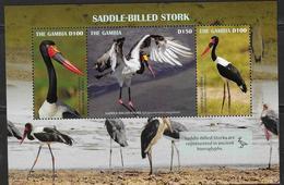 GAMBIA, 2019, MNH, BIRDS, STORKS, SADDLE-BILLED STORKS, SHEETLET - Storks & Long-legged Wading Birds