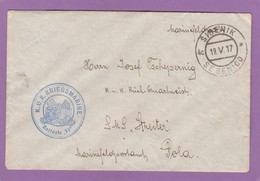 "K.U.K.  KRIEGSMARINE BATTERIE ""VI"",SIBENIK/SEBENICO(KROATIEN). - Lettres & Documents"