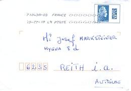 Auslands- Brief Von 80 000 Amiens 71043A-03 Mit Marke Europe 2019 - 2018-... Marianne L'Engagée
